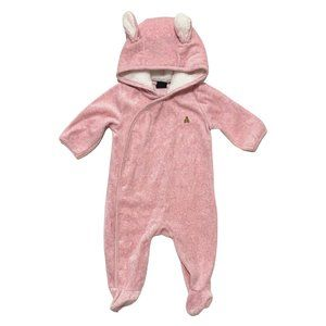 Baby Gap Pink Plush Mouse Ear One Piece